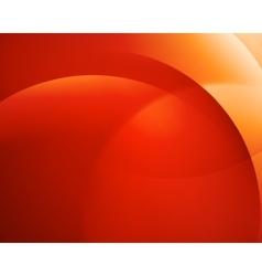 Orange smooth twist light bright wave lines vector image vector image