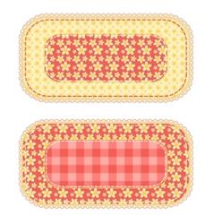 patchwork set 1 vector image
