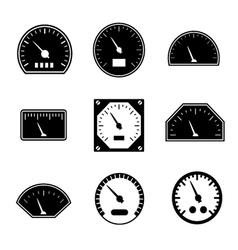 Set icons of speedometers vector image