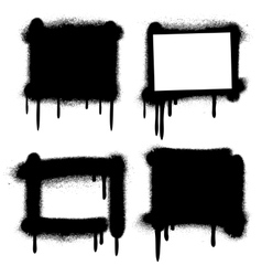 Spray paint graffiti grunge frames banners vector image vector image