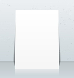 vertical white posters flyers mockup vector image