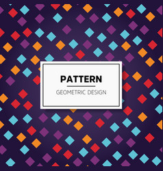 abstract colorful mosaic seamless pattern of vector image vector image
