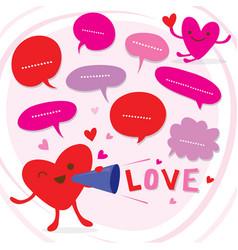 heart speak love to sweetheart cute cartoon vector image vector image