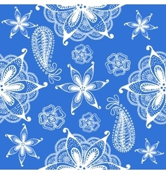 Seamless indian pattern blue vector image