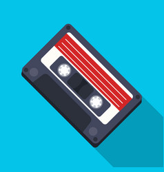 audio cassette icon in flat style isolated on vector image