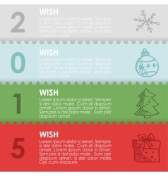 Christmas new year cardinvitationset of paper vector image vector image