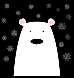 funny cute polar bear vector image