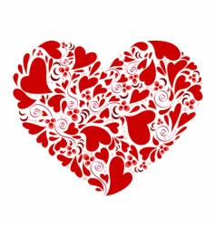 hearts within heart vector image vector image