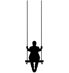 man on a swing vector image