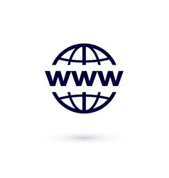 www flat icon concept for design world wide web vector image
