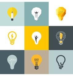 Creative light bulb Set of design elements vector image vector image