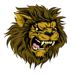 lion mascot character vector image