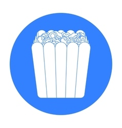Popcorn icon in black style isolated on white vector image vector image