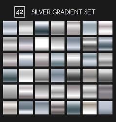 silver metallic gradient set vector image