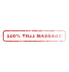 100 percent thai massage rubber stamp vector image
