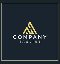 ah or nh triangle logo vector image