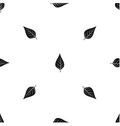 Apple tree leaf pattern seamless black vector