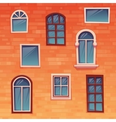 Background of wall with windows vector image