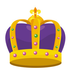 bejeweled crown icon vector image