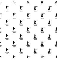 Biathlon pattern seamless vector