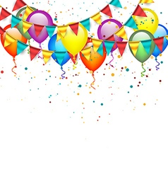 Birthday Garlands and Balloons vector image