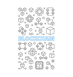 Blockchain technology vertical background or vector