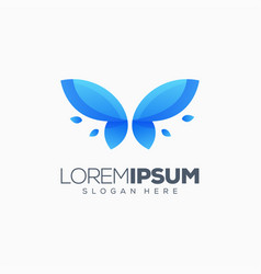 butterfly logo design ready to use vector image