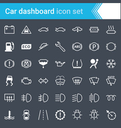 Car dashboard indicators and service maintenance vector