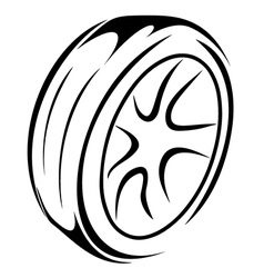 Car Wheel sketch vector
