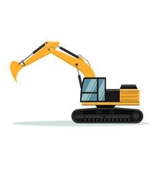 caterpillar excavator design heavy machine vector image