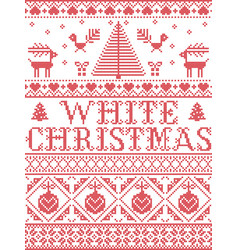 Christmas pattern white christmas carol vector