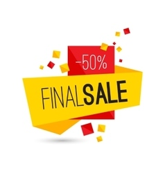 Colorful advertising final sale banner 50 percent vector image vector image