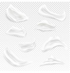 cream strokes realistic vector image