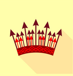 Crown of arrows icon flat style vector