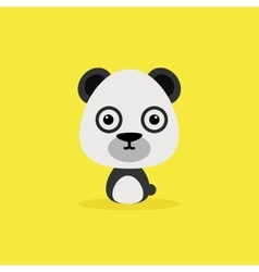 Cute Cartoon Wild panda vector image