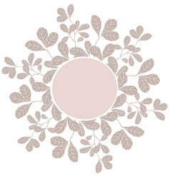 Decoration circle template with floral elements vector