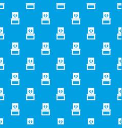diamond in box pattern seamless blue vector image