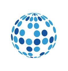 disco ball icon design template isolated vector image