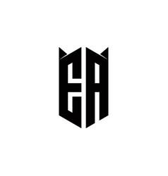 Ea logo monogram with shield shape designs vector