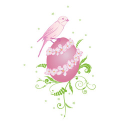 Easter with bird vector