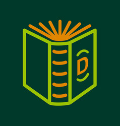 English book icon outline style vector