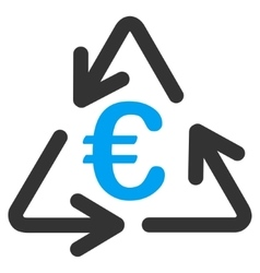 Euro Recycling Flat Icon vector image
