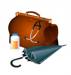 family doctor survival kit vector image