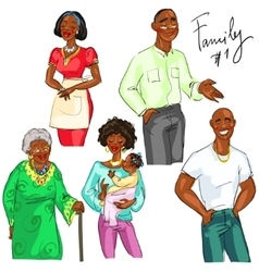 Family members isolated set 1 vector