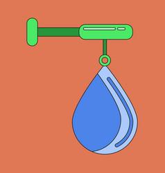 flat icon on stylish background punching bag vector image
