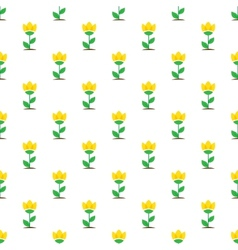flat yellow flowers seamless pattern vector image