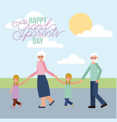 grandparenst day card vector image