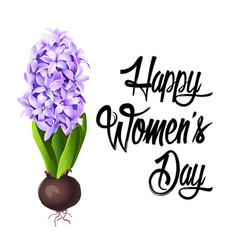 happy women s day lettering design vector image