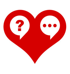 heart chat icon simple style vector image