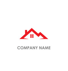 Home roof real estate logo vector